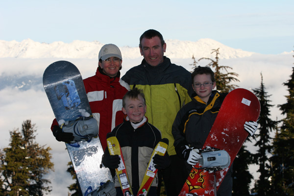 Top of Blackcomb Mountain 11/25/07