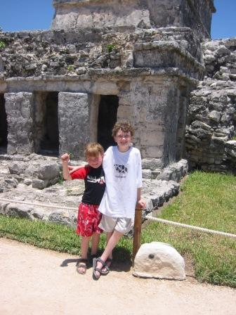 CAM and BigB in Tulum 2006