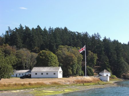 English Camp, Union Jack, San Juan Island, Pig War