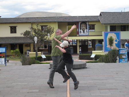 Mitad Del Mundo Jumping The Equator