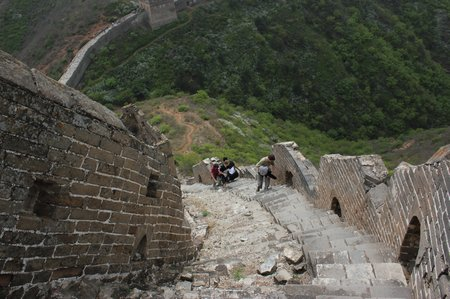china-with-kids-great-wall-simatai-steep