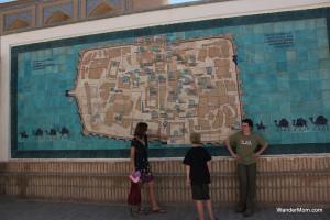 Khiva-Uzbekistan-Old-Town-Map